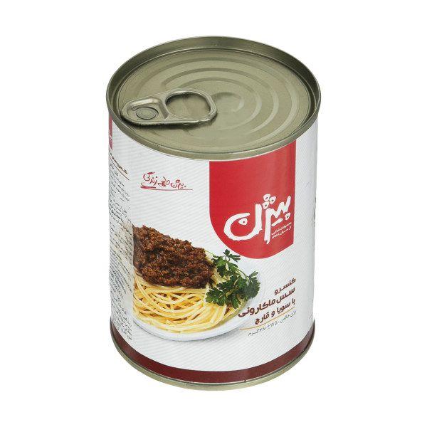 کنسرو مایه ماکارونی با سویا و قارچ 380 گرمی بیژن