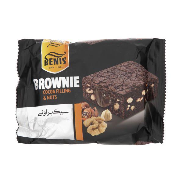 کیک براونی با مغز و روکش کاکائو بنیس