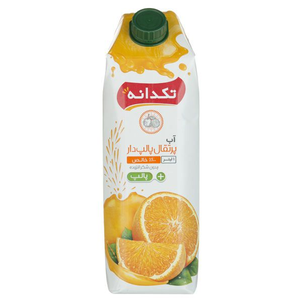 آب پرتقال پالپدار 1 لیتری تکدانه