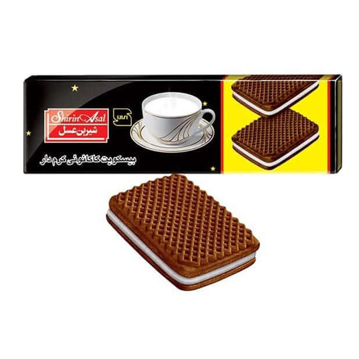 بیسکویت کرمدار کاکائو وانیل 120 گ شیرین عسل