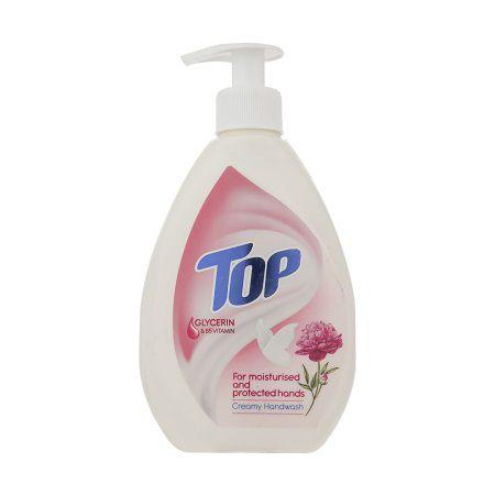 مایع دستشویی 400 گرمی صورتی تاپ