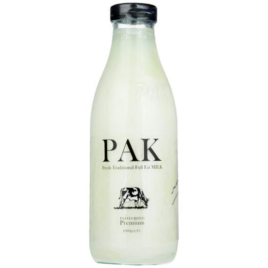 شیر شیشه ای پرچرب یک لیتری پاک