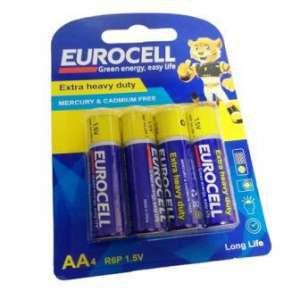 باتری کربن زینک قلمی 4 عددی یورو سل