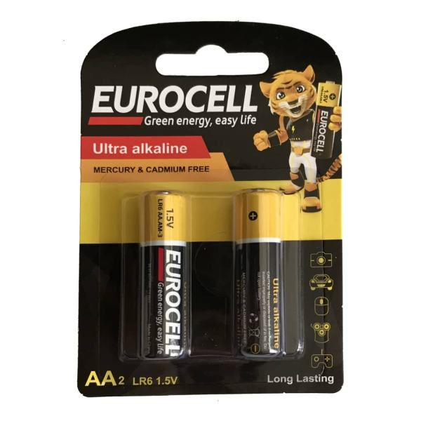 باتری اولترا آلکالاین قلمی 2 عدد یورو سل