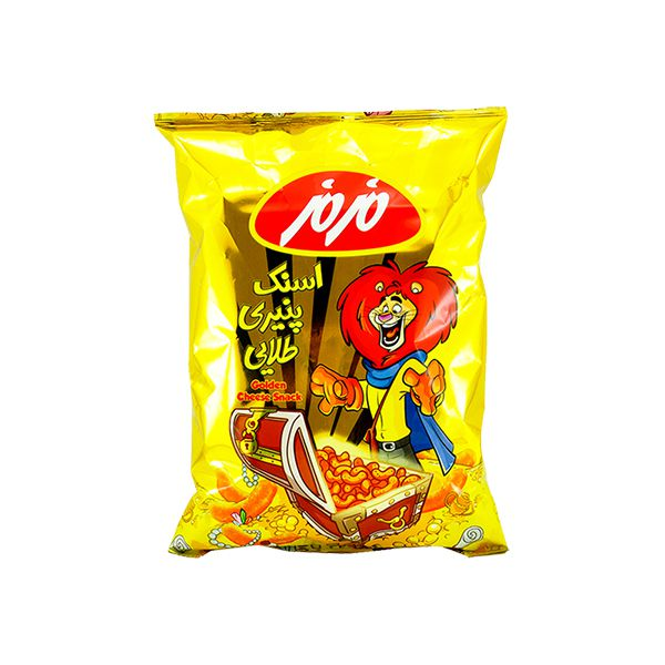 اسنک طلایی پنیری الفانت 250 گرمی مزمز