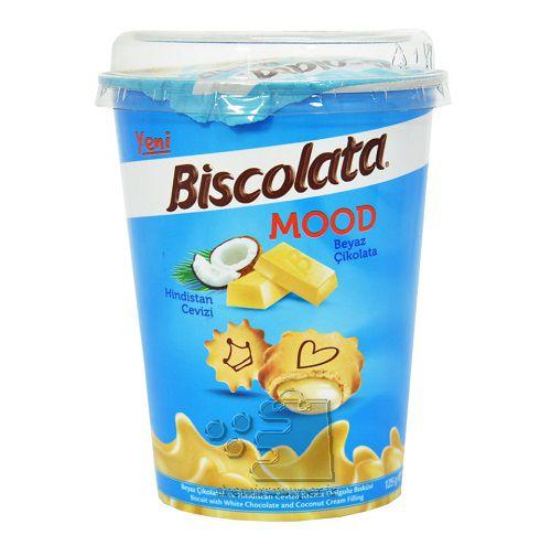 بیسکوئیت لیوانی 125 گرمی نارگیلی bisco lata