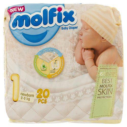 پوشک سایز نوزادی 20 عدد مولفیکس