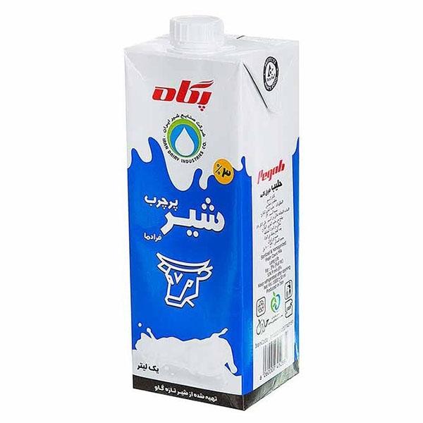 شیر استریل پاکتی یک لیتری پگاه