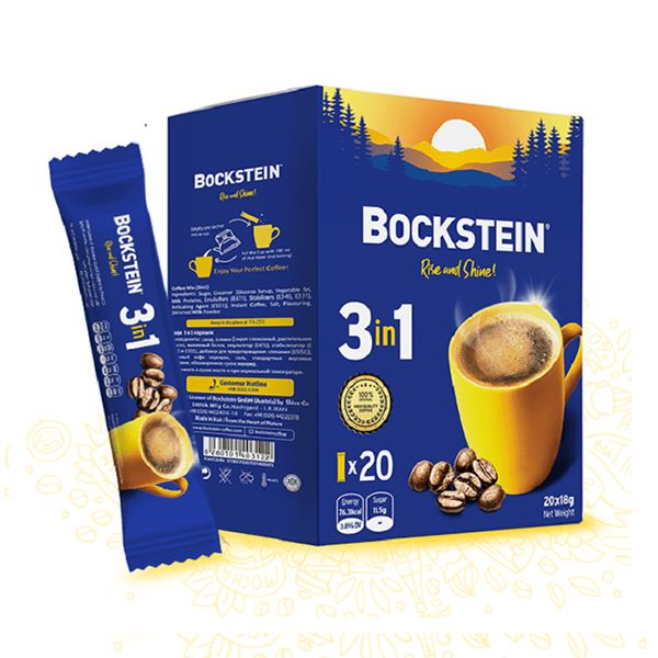 بسته 20 تایی پودر مخلوط قهوه فوری بوکشاین 3 در 1