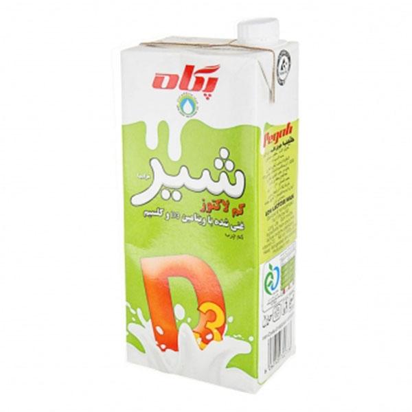 شیر کم لاکتوز یک لیتری پگاه