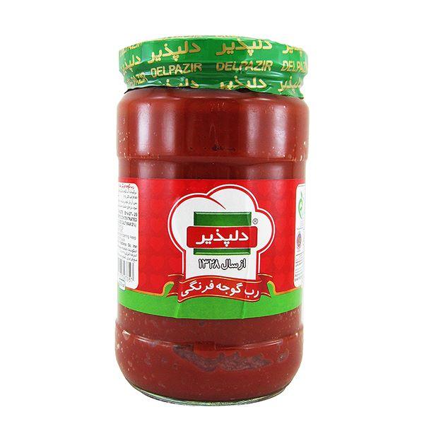 رب گوجه 700 گرمی شیشه دلپذیر
