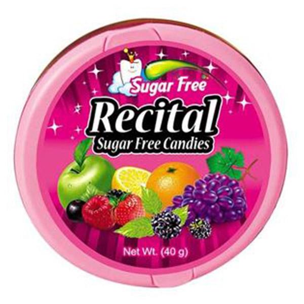 آبنبات میوه ای 60 گرم بدون قند رسیتال