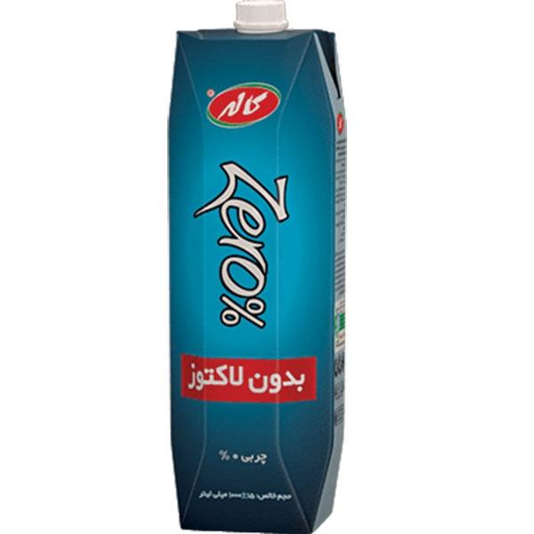 شیرزیرو 1 لیتری منشوری پاکتی 12 عددی کاله