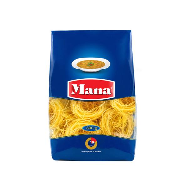 اسپاگتی رشته سوپ  300 گرمی آشیانه ای مانا