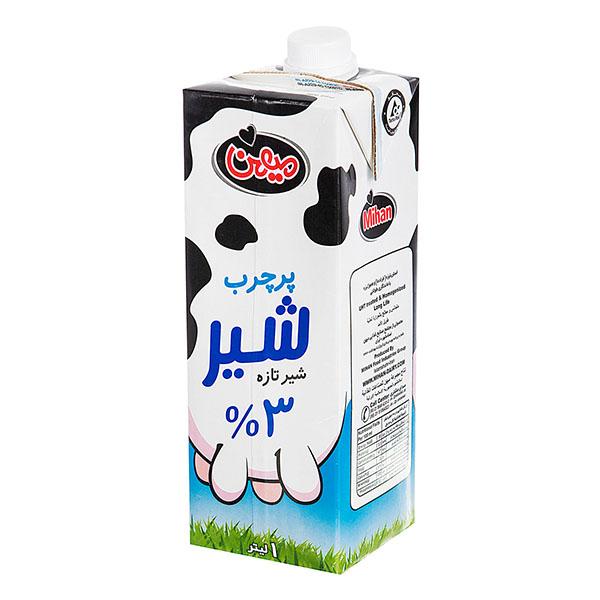 شیر پرچرب یک لیتری میهن