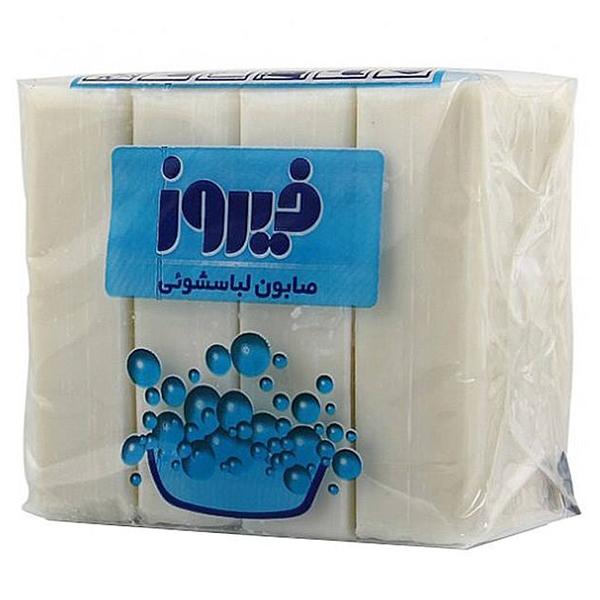 صابون لباسشویی فیروز 480 گرمی 4 قالبی