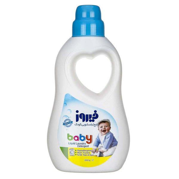 مایع لباسشویی کودک  1 لیتری آبی فیروز