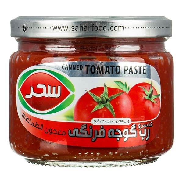 رب گوجه 340گ شیشه سحر