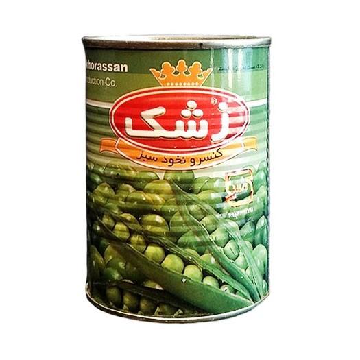 کنسرو نخود سبز کلیددار زشک