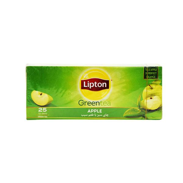 چای سبز سیب 25 عددی لیپتون