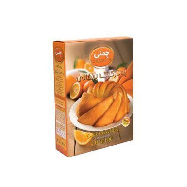 پودر کیک 450 گرم پرتقالی چمنی