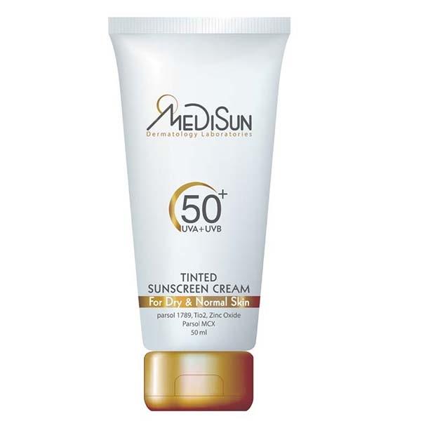 کرم ضد آفتاب SPF50 مدیسان رنگی