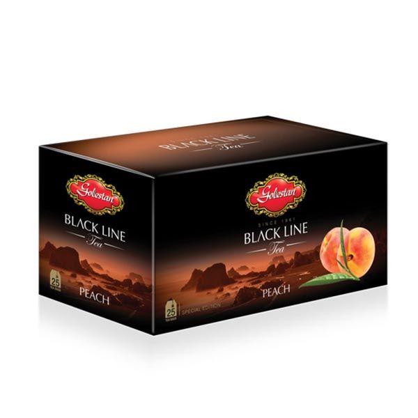 چای تی بگ خارجی با طعم هلو 25 عددی گلستان