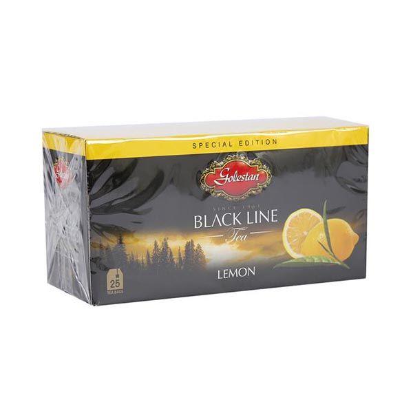 چای تی بگ خارجی با طعم لیمو 25 عددی گلستان