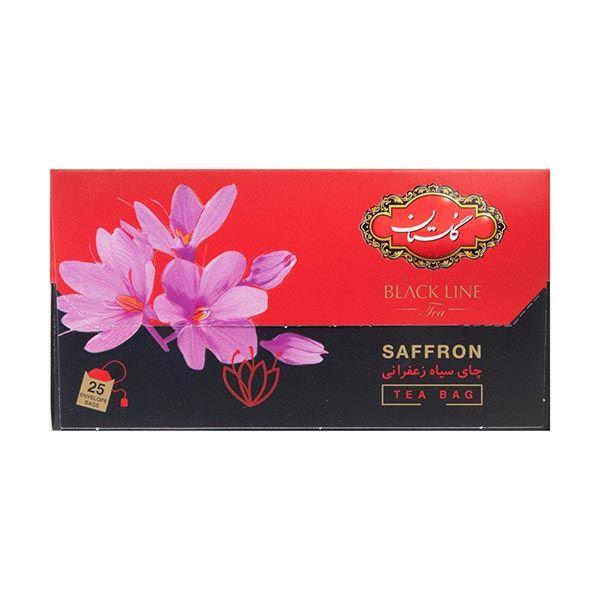 چای تی بک زعفرانی 25 عددی گلستان