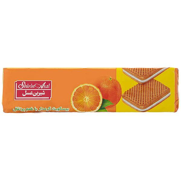 بیسکویت کرمدار پرتقال 120 گرم شیرین عسل
