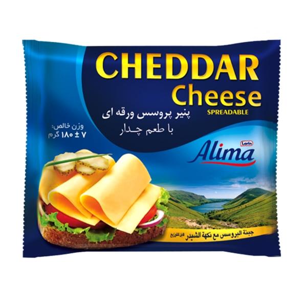 پنیر چدار ورقه ای 180 گرم آلیما