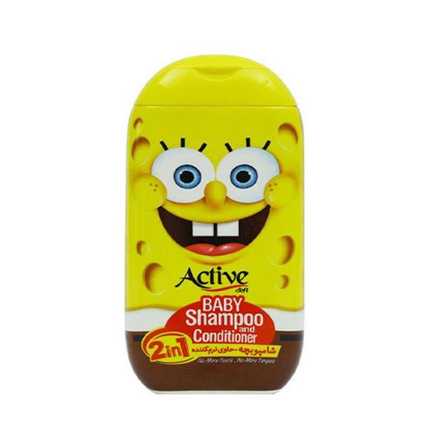 شامپو بچه 280 گرمی زرد باب اسفنجی اکتیو