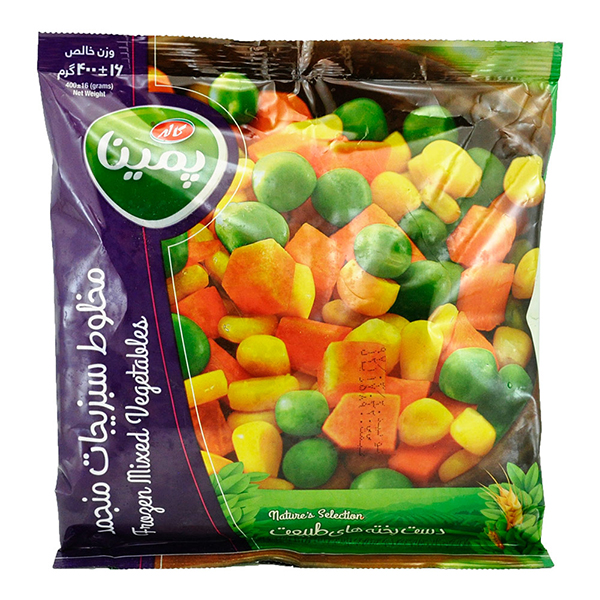 مخلوط سبزیجات 400گرم کاله