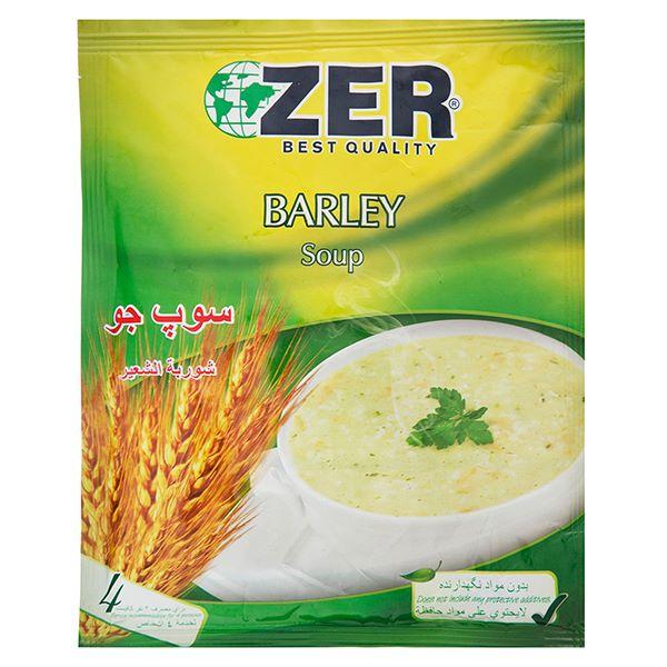 سوپ آماده جو 65 گرمی ZER
