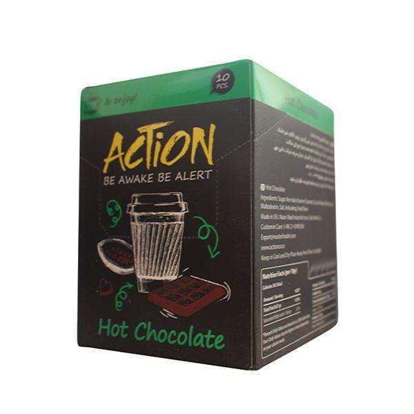 پودر شکلات داغ 10 عددی اکشن