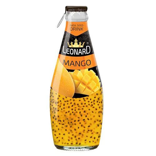 نوشیدنی تخم شربتی آناناس 300 میل لئونارد