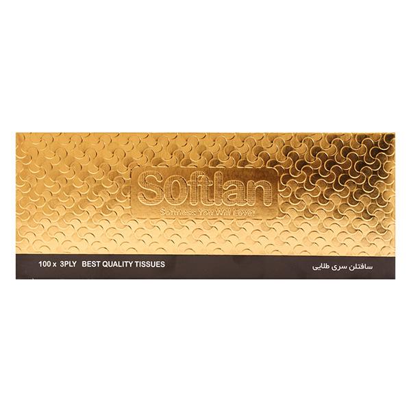 دستمال کاغذی 300برگ سری طلایی سافتلن